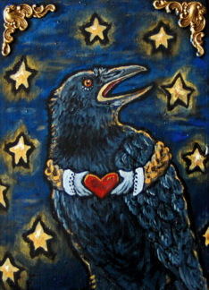 For Fiance / Fiancee card: Raven Heart Card