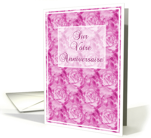 Sur Votre Anniversaire Birthday Wishes in French card (119261)
