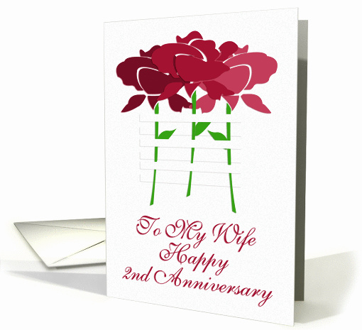To My Wife Happy 2nd Anniversary card (128943)