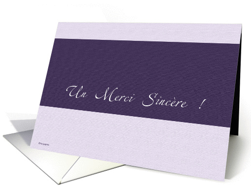 Merci (thank you) - card written in french card (140142)