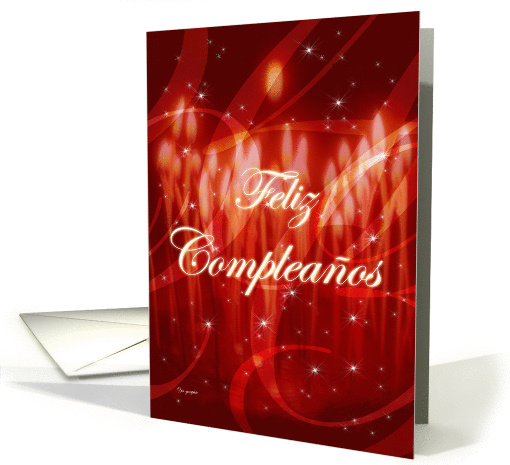 Feliz Complea�os ! - happy birthday written in spanish card (151580)