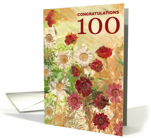 100th Birthday - Congratulations card (136863)