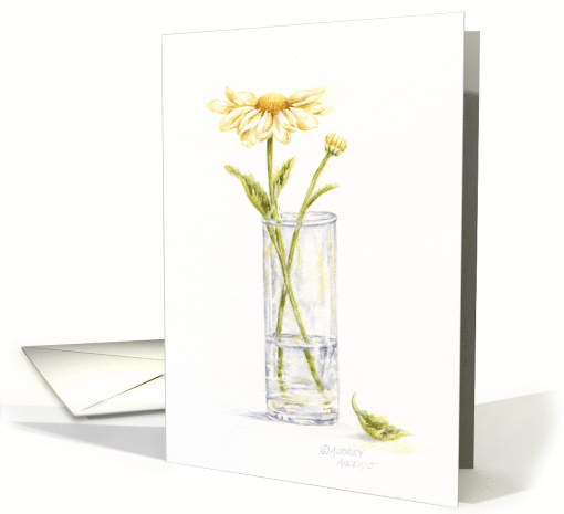 Thinking Of You Thoughtful Daisy In Vase card (115256)