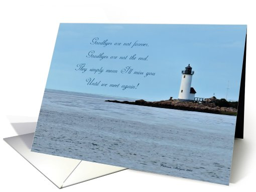 Lighthouse Farewell/Good Bye card (271937)