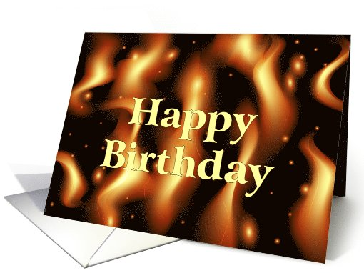 Happy Birthday! Let the sparks fly! card (1120048)