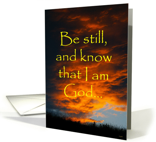 Encouragement - Spiritual:  Orange clouds card (221789)