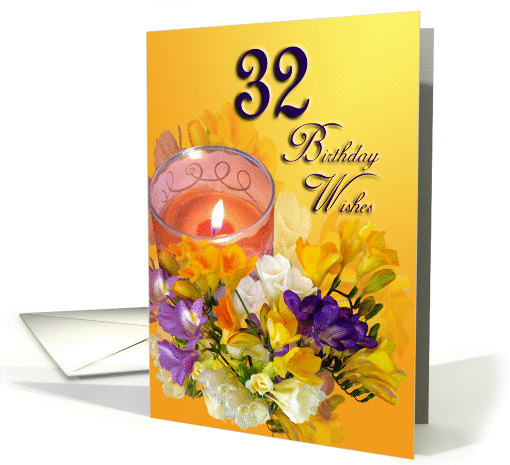 32nd Birthday Wishes card (474000)