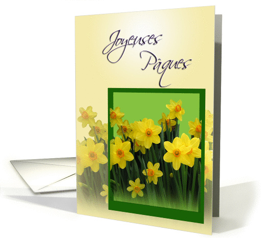 Joyeuses P�ques Carte - French Easter Greetings card (745734)