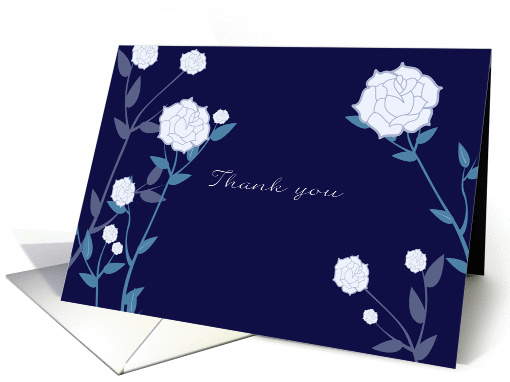 thank you for your sympathy, white rose card (790903)