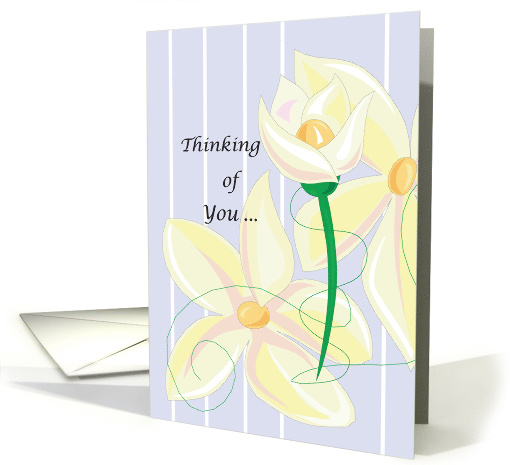 Thinking of You, Flowers, Hello, Encouragement card (150877)