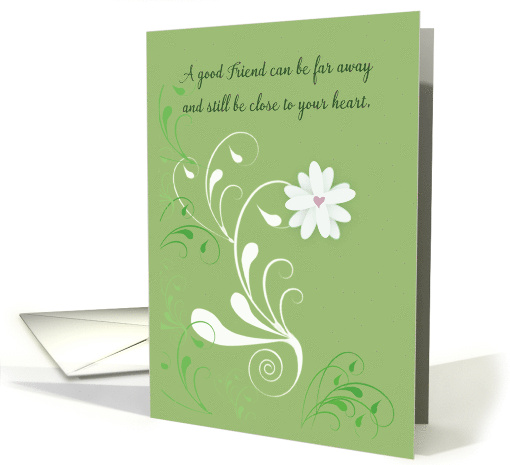 Thinking of You for Friend with Flower card (201262)