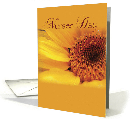 Nurses Day Sunflower card (917700)