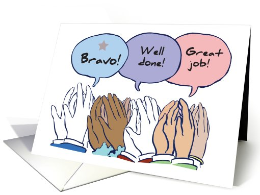 Bravo! Well Done! Great Job! card (171083)