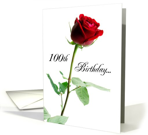 Happy 100th Birthday! card (265271)