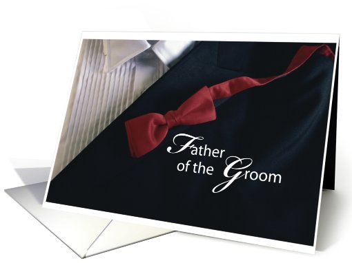 Father of the Groom, Thank you! card (300050)