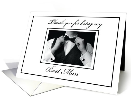 Best Man Thank You card (313046)