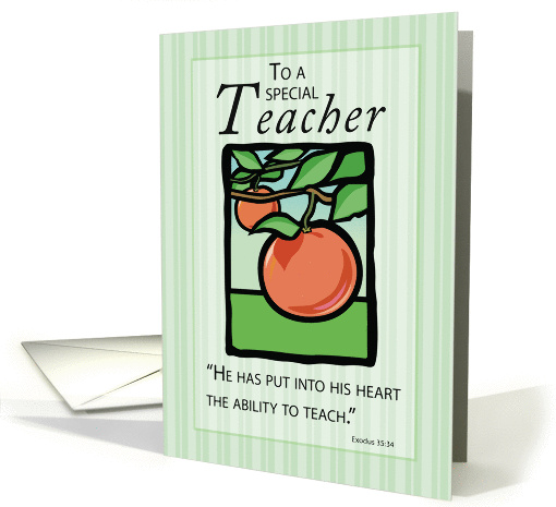 Teacher Thank You Religious  card (375164)