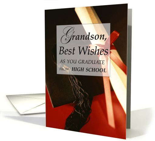 Grandson, High School Graduation Wishes card (607287)