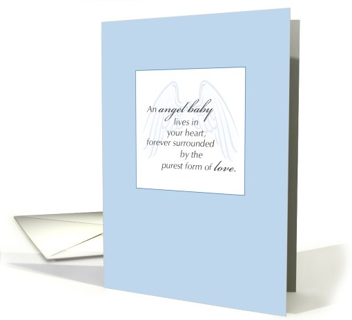 Baby, Sympathy,  Angel Baby card (646471)