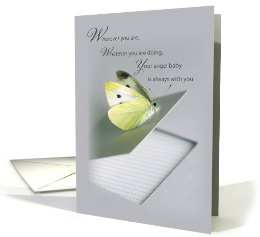 Baby Sympathy, Angel Baby, Butterfly card (646495)
