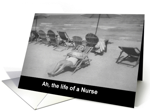 Nurses Day Beach - FUNNY card (575239)