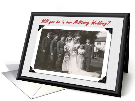 Military Wedding card (360838)