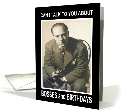 Birthday for Boss- Retro Funny card (440211)