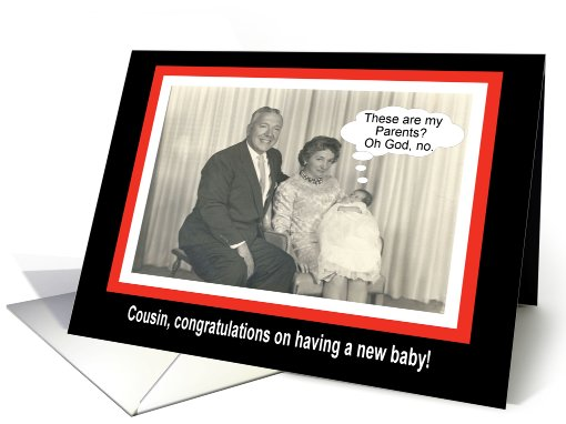 Congratulations Cousin - New Baby card (442231)