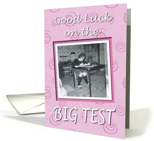 Good Luck Student Test - RETRO card (580490)
