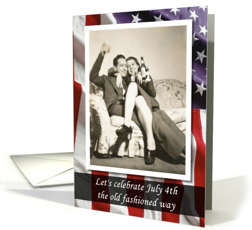 4th of July Retro - FUNNY card (815404)