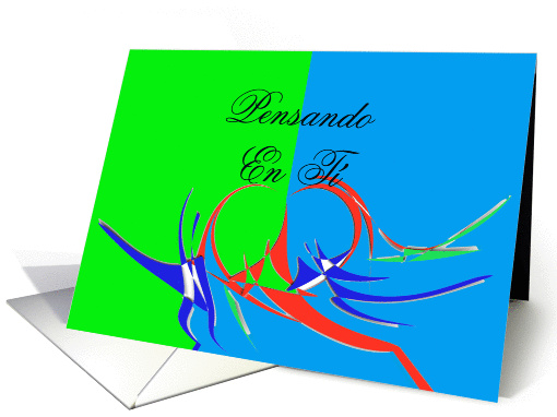 Pensando En T� - Thinking About You card (251890)