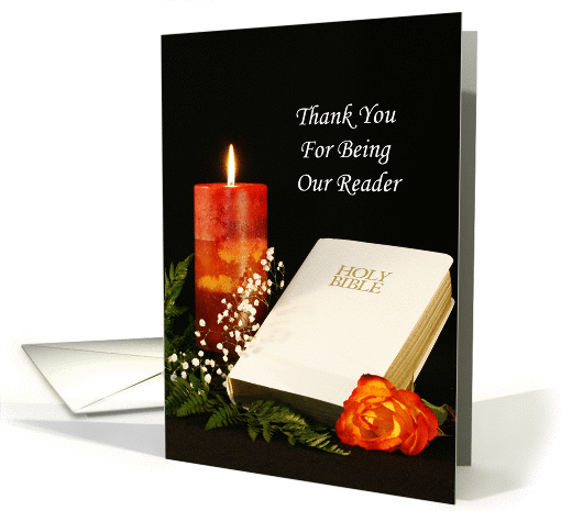 Thank You For Being Our Reader Greeting Card-With Bible,... (385674)