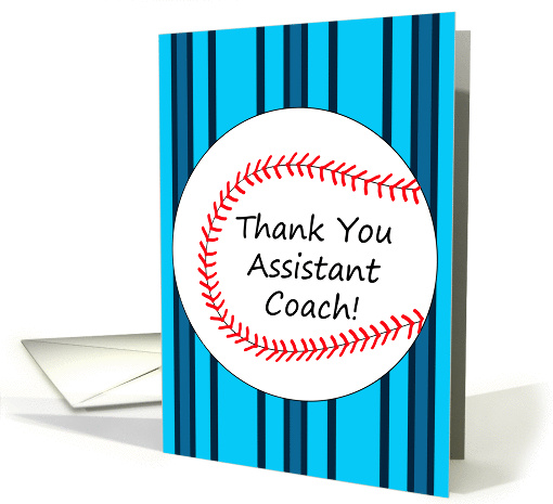 Thank You Assistant Baseball Coach card (426831)