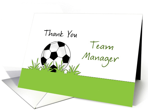 For Team Manager Soccer / Futbol Thank You card (752324)