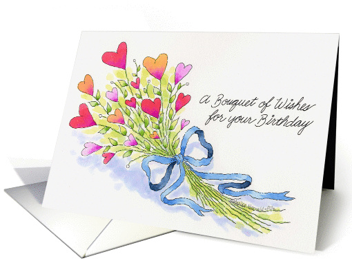 A Bouquet of Wishes card (175592)