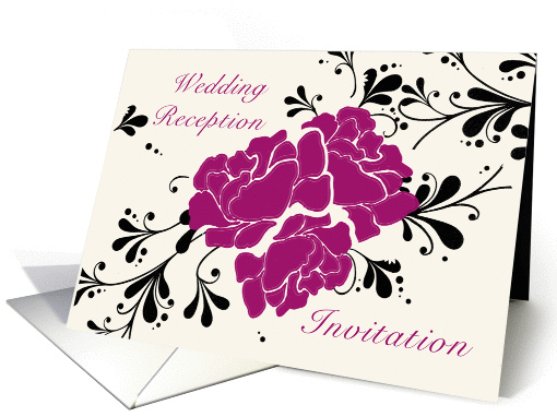 Wedding Reception Invitation card (218243)