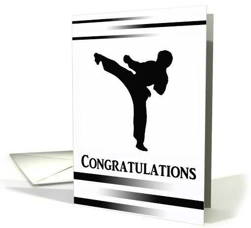 Congratulations on Earning your Black Belt card (427738)