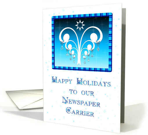 Holiday Thank You Newspaper Carrier card (216725)
