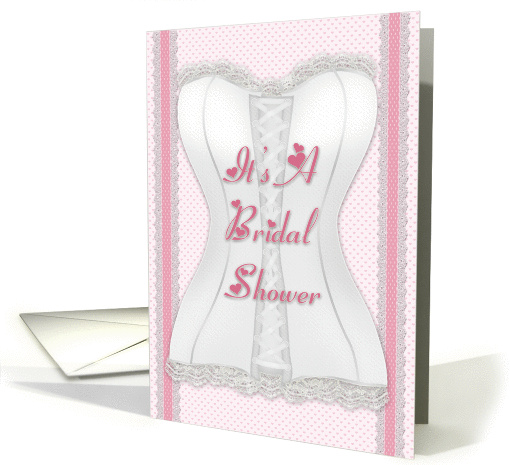 Corset with Lace Bridal Shower Invitation card (659447)
