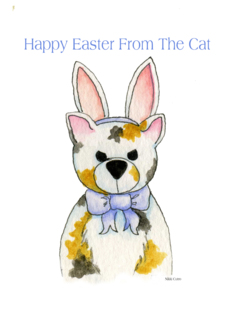 Humor card: Happy Easter From the Cat Card Card