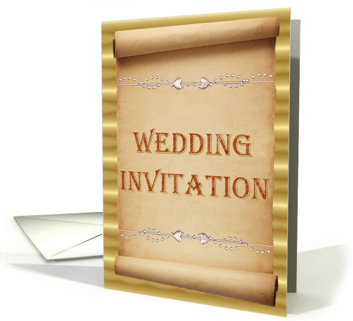 Wedding Invitation - Scroll  card (355523)
