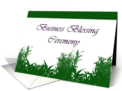 Business Blessing Ceremony, Business Blessing Invitation card (820821)