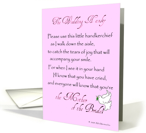 The Wedding Hanky for the Mother of the Bride card (355417)