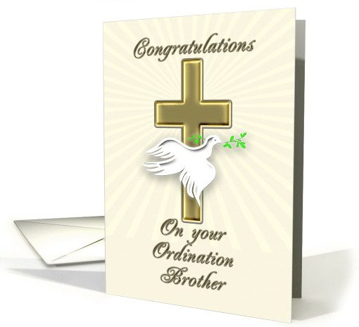 Ordination congratulations for brother card (842781)