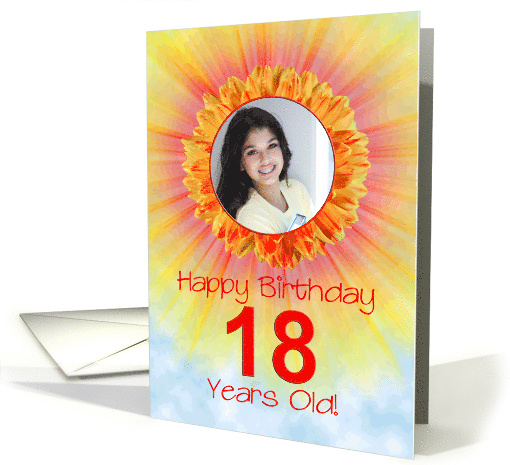 18th birthday sunshine flower photo card (886350)
