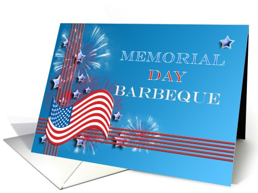 Memorial day card, Barbeque invitiation card (410131)