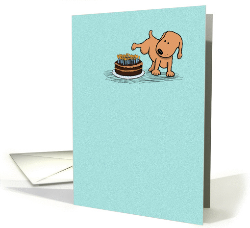 Funny peeing dog birthday card: Years Whiz By card (369465)