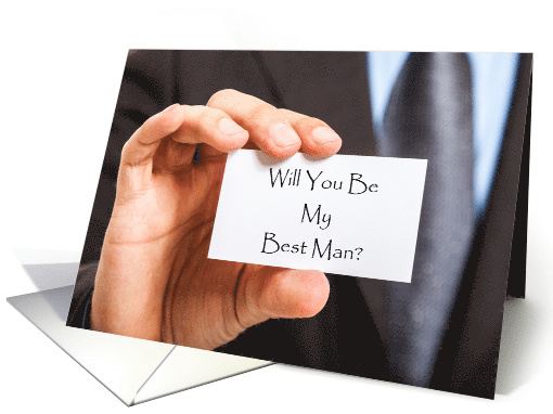 Will You Be My Best Man?Wedding Attendant Invite card (1215504)