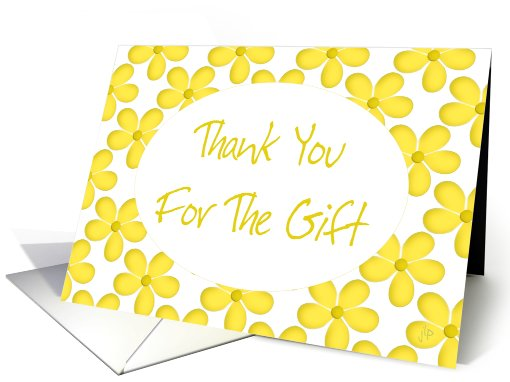 Thank You For The Gift - Birthday card (453621)