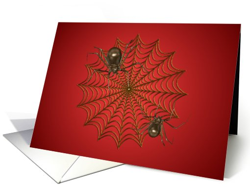 Halloween-Spiders-Web card (500851)